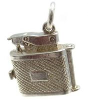Cigarette Lighter Silver Charm