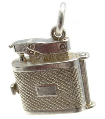 Cigarette Lighter Silver Charm