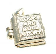 Cock and Bull Story Book Charm