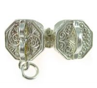 Concertina Sterling Silver Charm