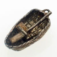 Coracle Boat Sterling Silver Charm