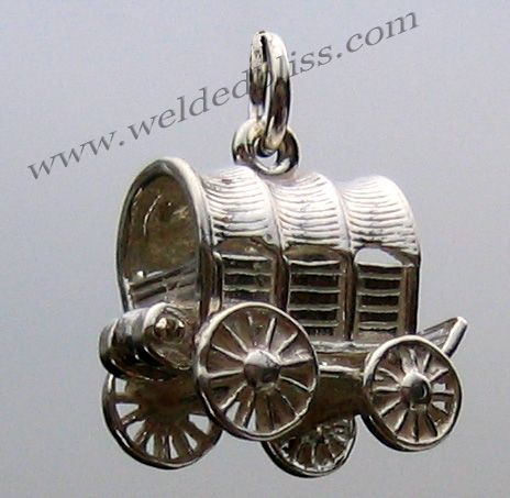 Covered Wagon Sterling Silver Charm