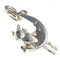 Cow Jumps Moon Silver Charm