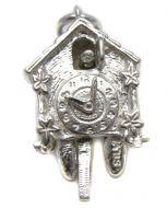 Sterling Silver Charm Cuckoo Clock