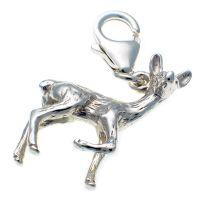Deer Silver Charms