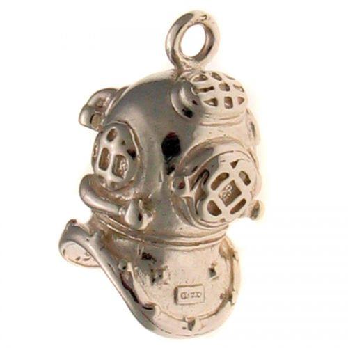 Diver Helmet Silver Charm