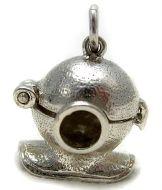 Sterling Silver Diving Helmet Charm