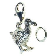 Bird Dodo Sterling Silver Charm