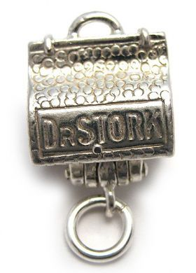 Doctor's Bag Silver Charm
