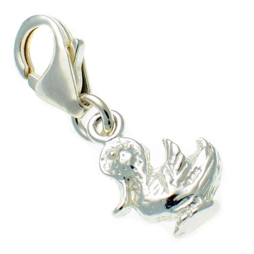 Sterling silver Happy Duck Charm