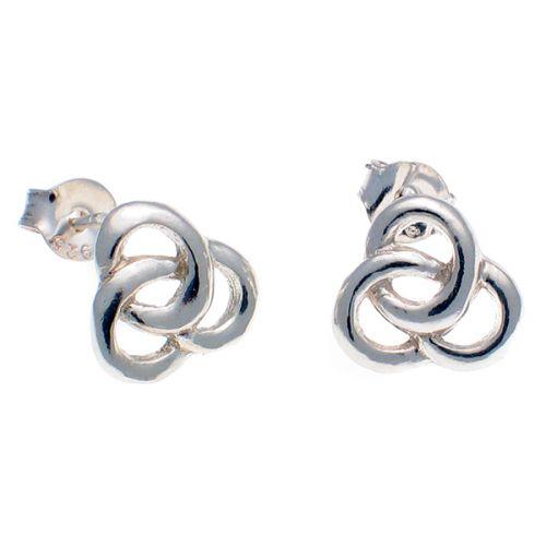 Earrings Celtic Love Knot, Sterling 925 Silver