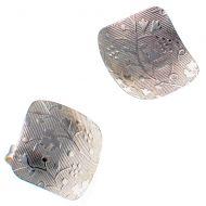 Earrings Embossed Pattern Sterling 925 Silver