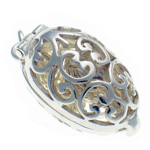 Egg Filigree Silver With Chick