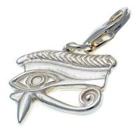 Eye of Horus Sterling Silver Charm
