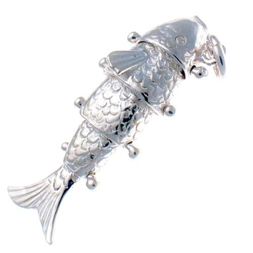 Fish Articulated Joints Silver Charm
