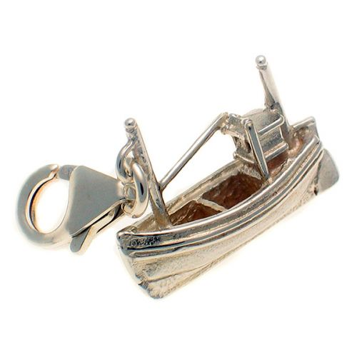 Boat Fishing Sterling Silver Charm