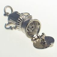 Football Trophy sterling silver charm