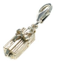 Gift Box Sterling Silver Charm