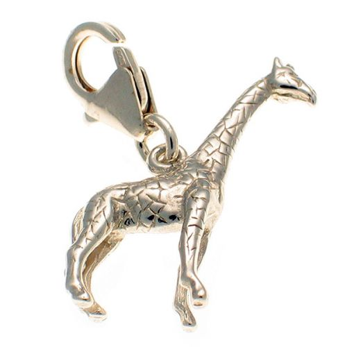 Giraffe Sterling Silver Charm