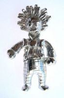 Golly rag doll charm