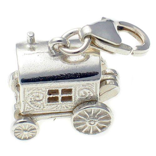 Gypsy Caravan Silver Charm