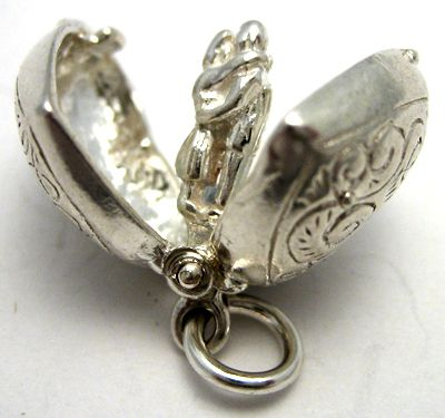Heart Lovers Opening Silver Charm