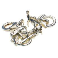 Bike Honda Sterling Silver Charm