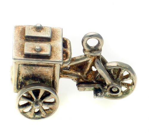 Ice Cream Bike Vendor Charm