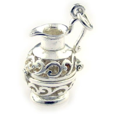 Jug Water Carrier silver charm