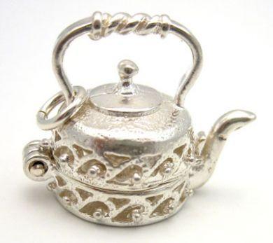Kettle silver charm