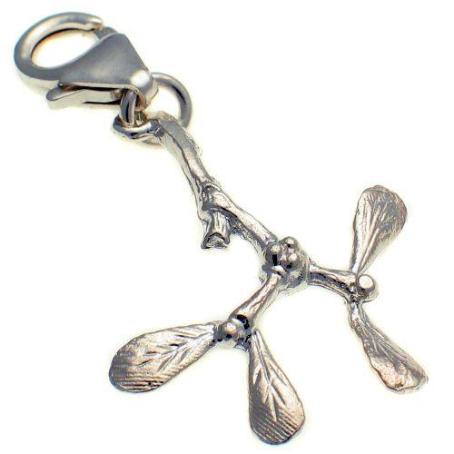 Mistletoe, Sterling Silver Charm
