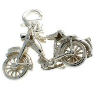 Motorbike Charm Sterling Silver