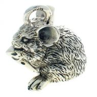 Mouse Pendant Charm Sterling Silver