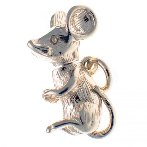 Mouse Sterling Silver Charm