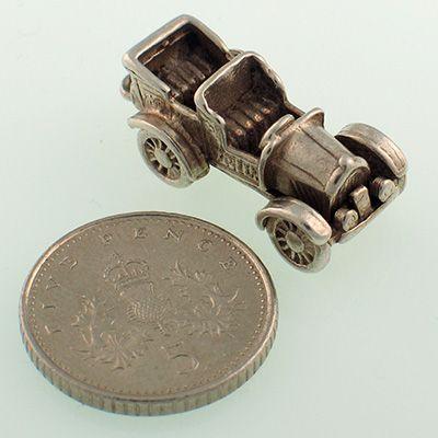 Nuvo Vintage Car Silver Charm