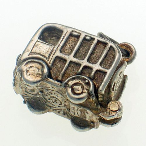 Nuvo Sterling Silver Horse Box Lorry Charm