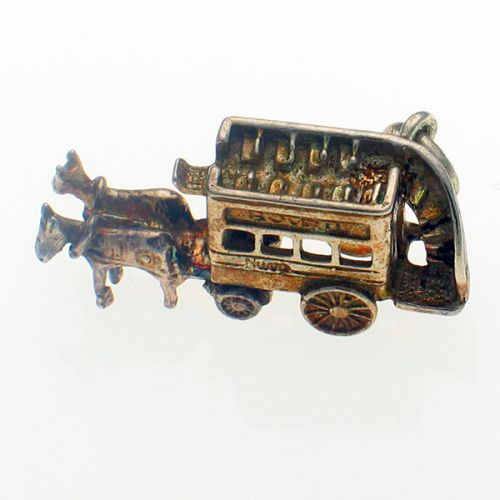 Nuvo Horse Drawn Bus Sterling Silver Charm