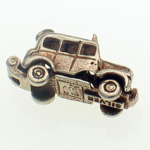 Nuvo Vintage Taxi London Cab Sterling Silver Charm