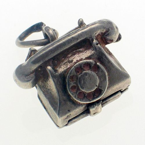 Nuvo Vintage Sterling Silver Telephone Charm