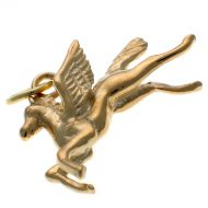 9ct Gold Pegasus Flying Horse Charm Pendant