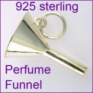 Perfume Funnel Sterling 925 Silver Charm