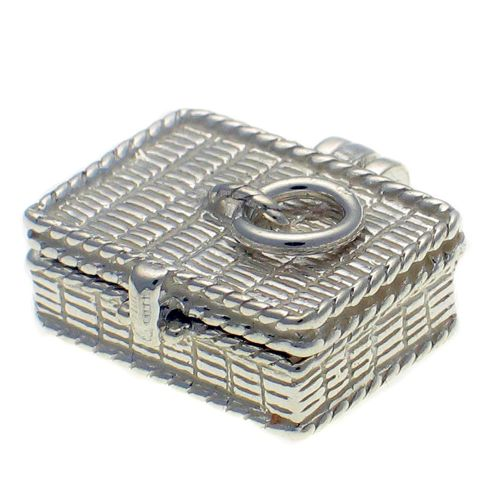 Picnic Basket Sterling Silver Charm