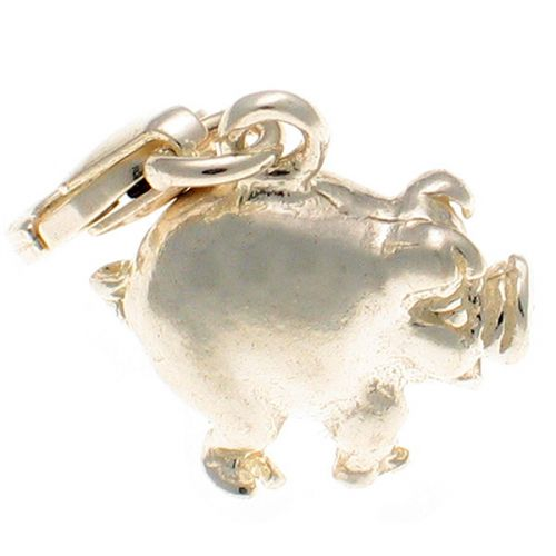 Pig Fat Sterling Silver Charm