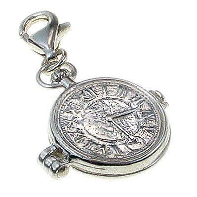 Pocket Watch Sterling Silver Charm