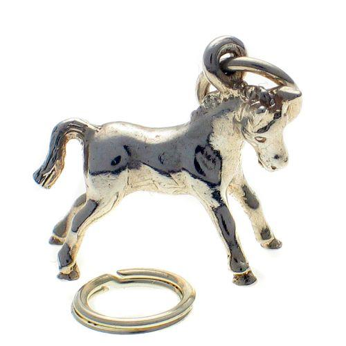 Horse Pony Small Silver Charm