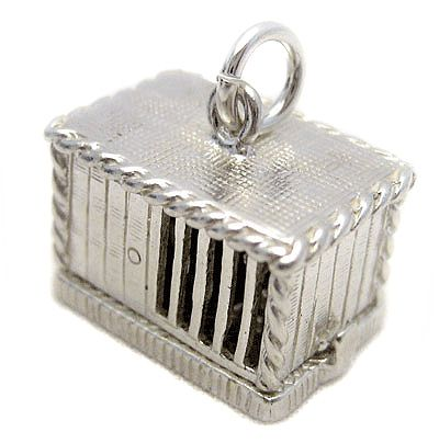 Rabbit Hutch Sterling Silver Charm