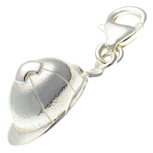 Horse Riding Hat Silver Charm