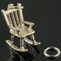 Rocking Chair Silver Charm
