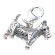 Dog Scottie sterling silver charm