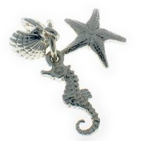 Seaside Sterling Silver Charm